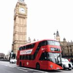 red-bus-on-road-near-big-ben-in-london-698849